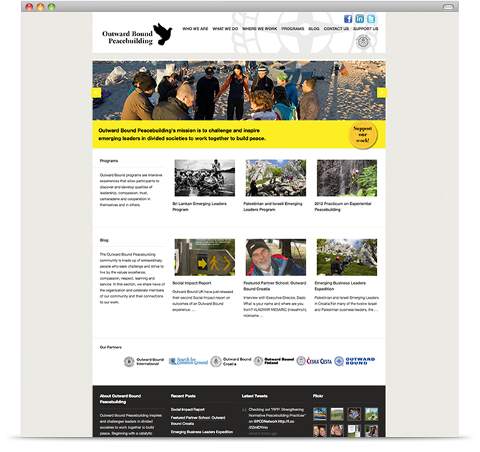 Outward Bound Peacebuilding - homepage