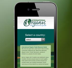 globalorganictrade.org mobile mockup