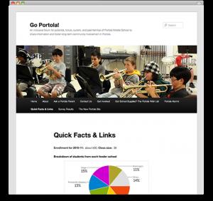 WordPress for Schools - Go Portola!