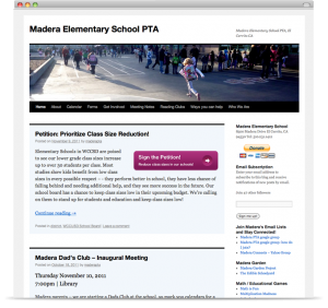 WordPress for Schools - Madera PTA